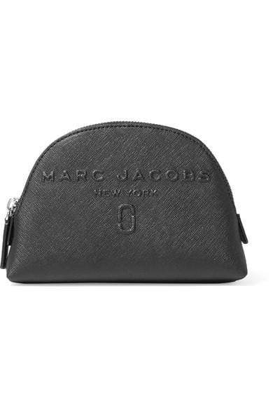 Marc Jacobs Embossed textured-leather cosmetics case -Black, makeup bag, London Loves Beauty