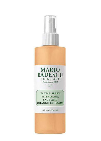 Mario Badescu Facial Spray With Aloe, Sage And Orange Blossom 236ml, Setting Spray, London Loves Beauty