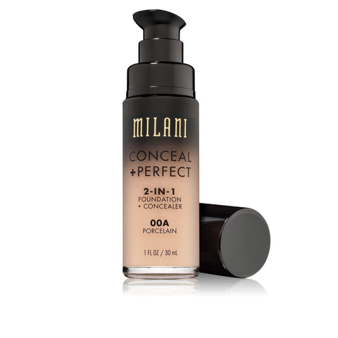 Milani Conceal + Perfect 2-In-1 Foundation + Concealer - Porcelain (1 fl.oz | 30mL), , London Loves Beauty