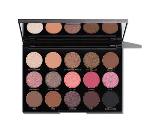 Morphe 15B Brunch Babe Eyeshadow Palette, eyeshadow palette, London Loves Beauty