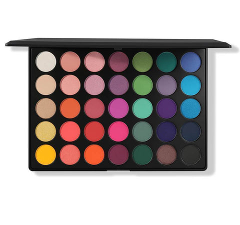Morphe 35B Color Burst Artistry Palette, eyeshadow palette, London Loves Beauty