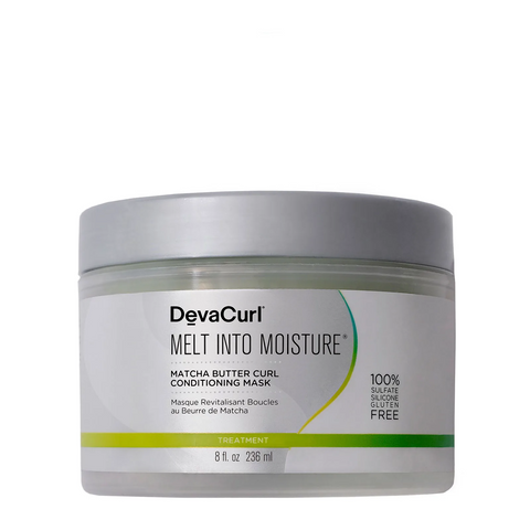 DEVACURL Melt Into Moisture Matcha Butter Conditioning Mask, 8 oz, Hair Care, London Loves Beauty