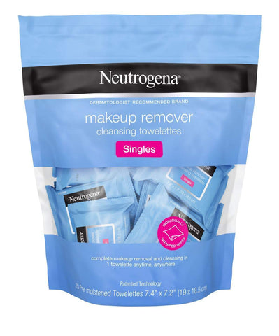 Neutrogena® Makeup Remover Cleansing Towelettes Singles - 20pc, makeup remover, London Loves Beauty
