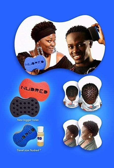 The NUDRED Natural Hair Care System - The Original Hair Sponge - Blue - London Loves Beauty