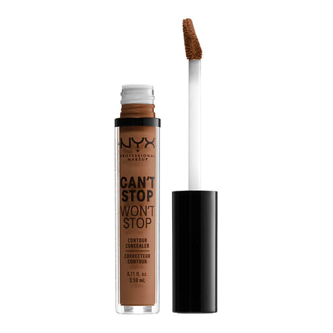 NYX Professional Makeup Can't Stop Won't Stop Contour Concealer - Cappuccino, Concealer, London Loves Beauty