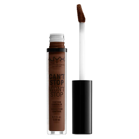 NYX Professional Makeup Can't Stop Won't Stop Contour Concealer - Deep Walnut, Concealer, London Loves Beauty