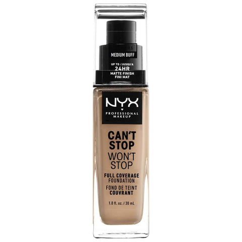 NYX Professional Makeup Can't Stop Won't Stop 24 Hour Foundation - Medium Buff, foundation, London Loves Beauty