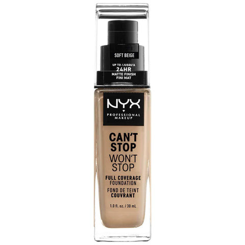 NYX Professional Makeup Can't Stop Won't Stop 24 Hour Foundation - Soft Beige, foundation, London Loves Beauty