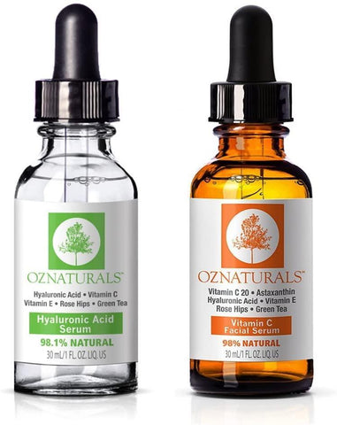 Oz Naturals Serums Oz Naturals Vitamin C Facial Serum And Hyaluronic Acid Serum