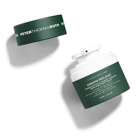 Peter Thomas Roth Green Releaf Therapeutic Sleep Cream Skin Protectant, 50ml, Face Cream, London Loves Beauty