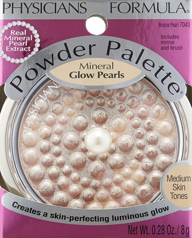 PHYSICIANS FORMULA Powder Palette Mineral Glow Pearls, Bronze Pearl, highlighter, London Loves Beauty