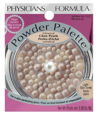 PHYSICIANS FORMULA Powder Palette Mineral Glow Pearls, Light Bronze, highlighter, London Loves Beauty