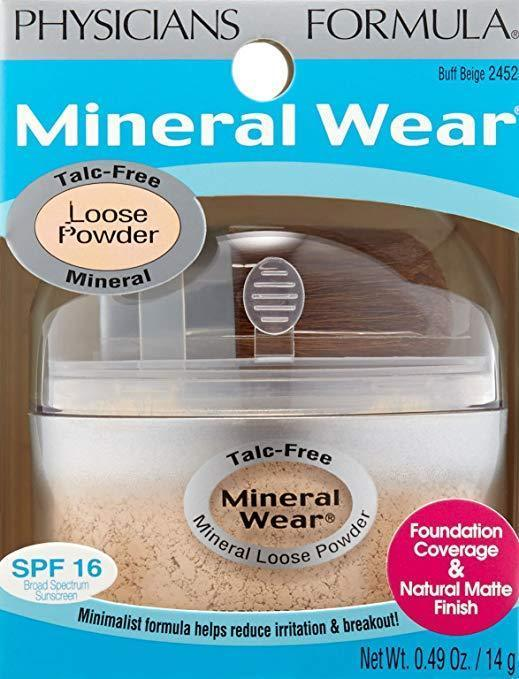Physicians Formula Mineral Wear Talc-Free Loose Powder - Buff Beige, 0.49oz, Setting Powder, London Loves Beauty