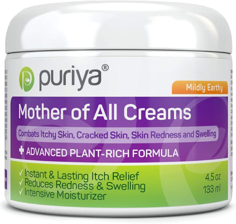 Puriya Skin Care Puriya Cream For Eczema, Psoriasis, Rosacea, Dermatitis, Shingles and Rashes- Mildly Earthy (4.5 oz)