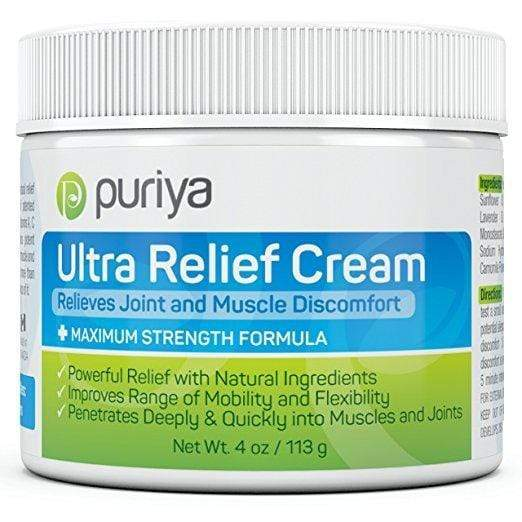 Puriya Skin Care Puriya Ultra Relief Cream For Joint, Back, Knee, Neck, Shoulder Pain (4.0 oz)