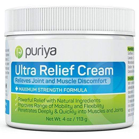 Puriya Ultra Relief Cream For Joint, Back, Knee, Neck, Shoulder Pain (4.0 oz), Skin Care, London Loves Beauty