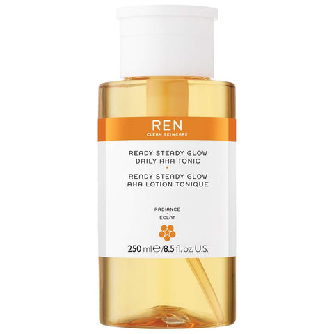 REN CLEAN SKINCARE Ready Steady Glow Daily AHA Toner, 8.5 oz/250 ml, toner, London Loves Beauty