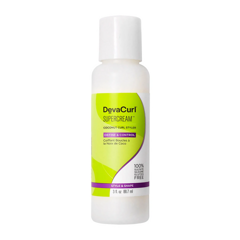 DevaCurl SuperCream Coconut Curl Styler, 90ml, Hair Care, London Loves Beauty