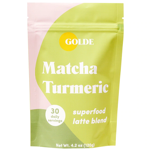 Golde Matcha Turmeric Latte Blend for skin glow + metabolism, Beauty Supplements, London Loves Beauty