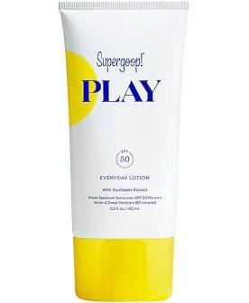 SUPERGOOP! PLAY Everyday Lotion SPF 50, 2.4oz, sunscreen, London Loves Beauty