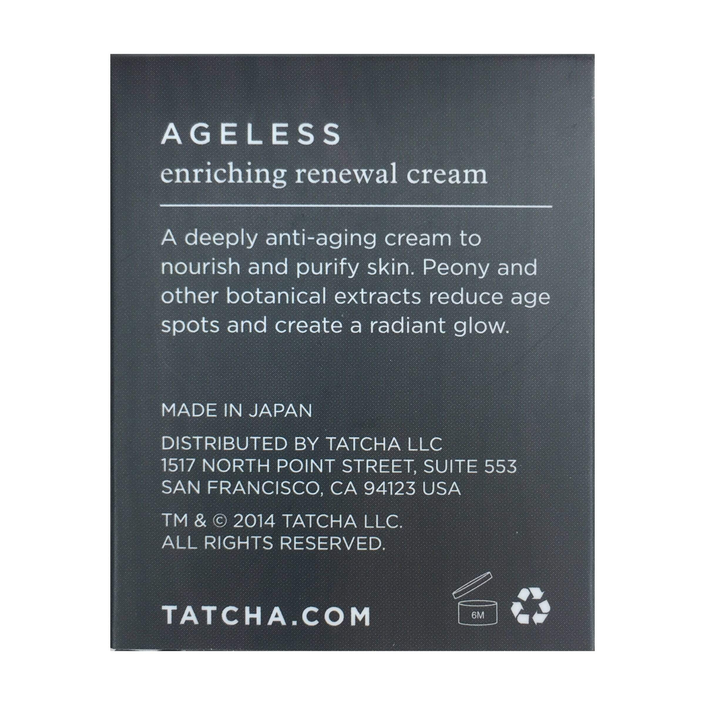 Tatcha Moisturizer Tatcha Ageless Enriching Renewal Cream Travel Size, 10ml | 0.34 Fl.oz.