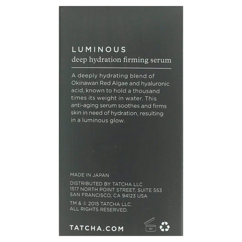 Tatcha Skin Care Tatcha Luminous Deep Hydration Firming Serum, 10mL