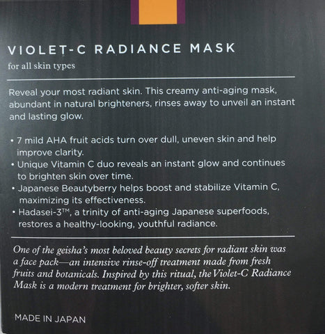 Tatcha Violet-C Radiance Mask (50 ml / 1.7 fl. oz), Skin Care, London Loves Beauty