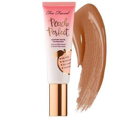 TOO FACED Peach Perfect Comfort Matte Foundation: Mahogany, Makeup, London Loves Beauty
