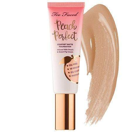 TOO FACED Peach Perfect Comfort Matte Foundation: Sand, Makeup, London Loves Beauty