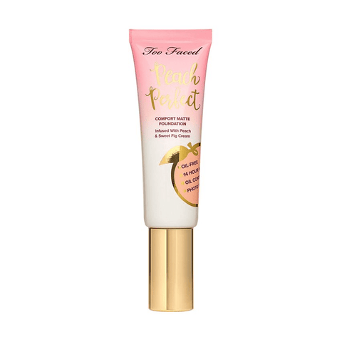 TOO FACED Peach Perfect Comfort Matte Foundation: Swan, Makeup, London Loves Beauty