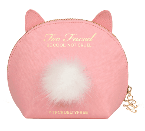 Too Faced Pink Cool Not Cruel Bunny Makeup Bag, Tools & Accessories, London Loves Beauty