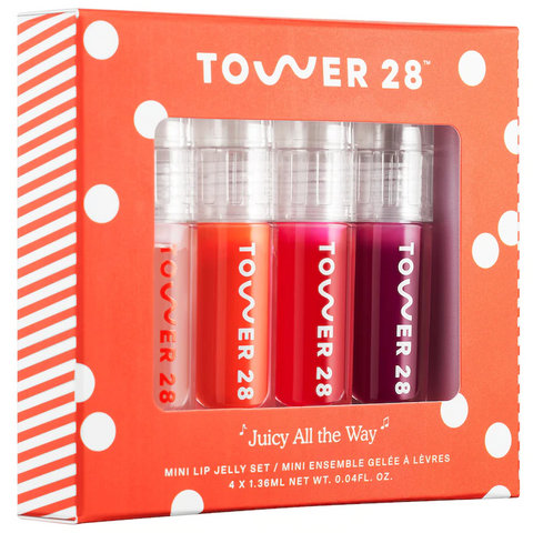 TOWER 28 Beauty Mini Juicy All The Way Lip Jelly Limited Edition Set, Value Set, London Loves Beauty