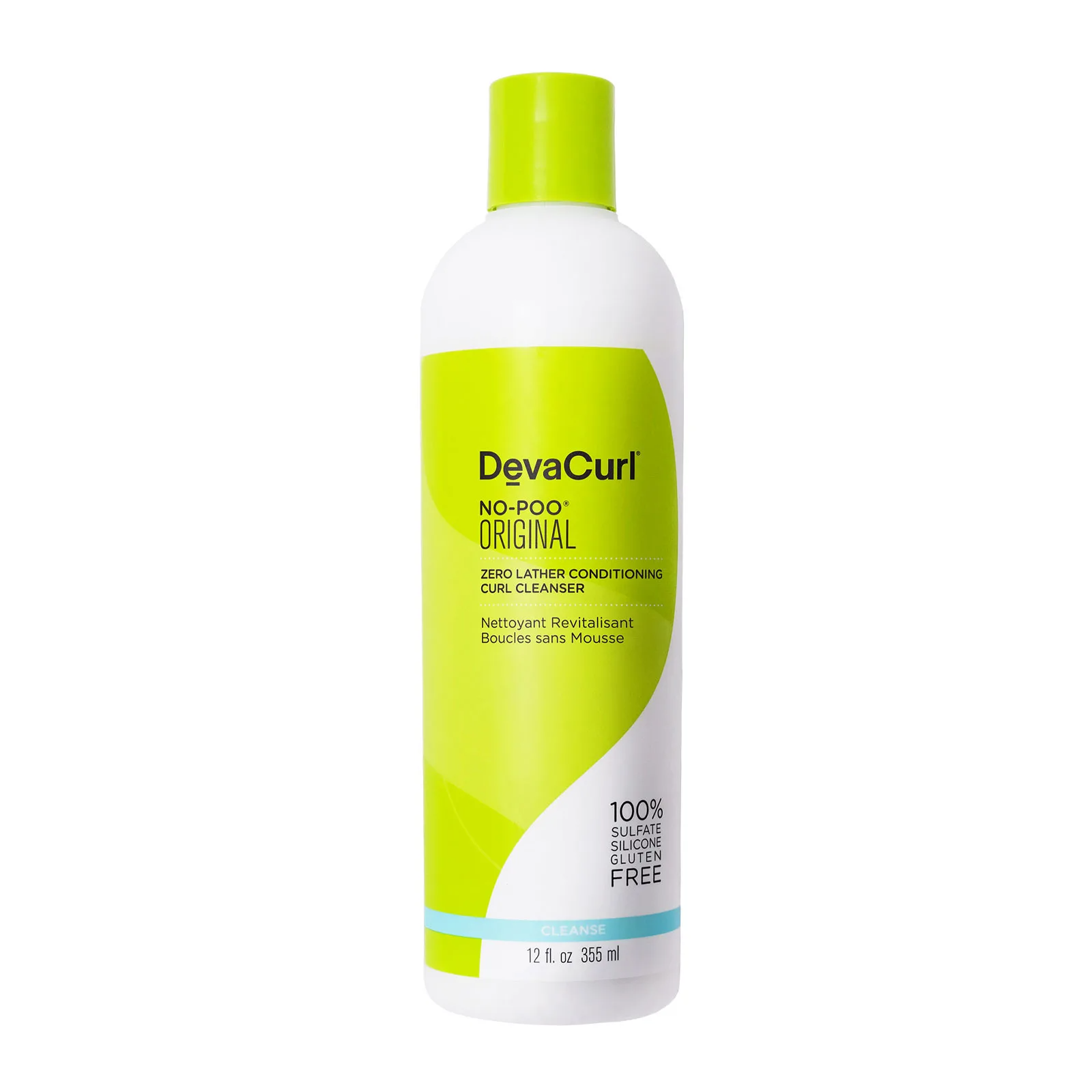 DevaCurl No-Poo Original Zero Lather Conditioning Cleanser, 12oz, Hair Care, London Loves Beauty