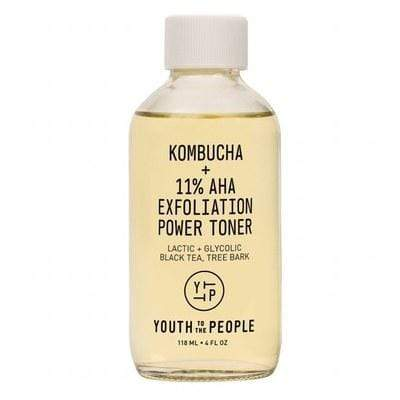 YOUTH TO THE PEOPLE Kombucha + 11% AHA Exfoliation Power Toner, 4oz, face oil, London Loves Beauty