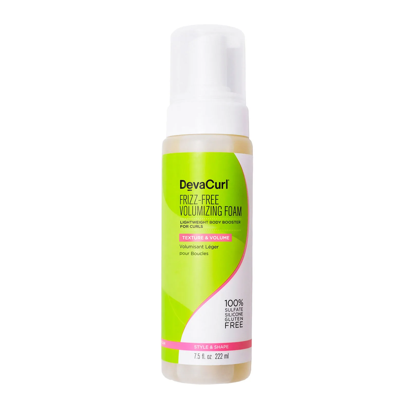 DevaCurl Frizz-Free Volumizing Foam Lightweight Body Booster, 225ml