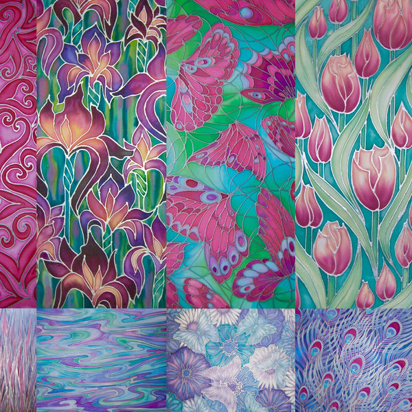 Original Art~hand painted silk originals