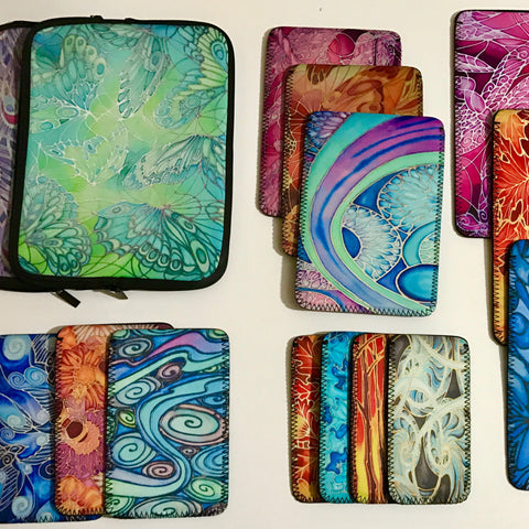 Kindle covers, i pad covers, phone covers, mini i psd covers, zip covers by Meikie Designs