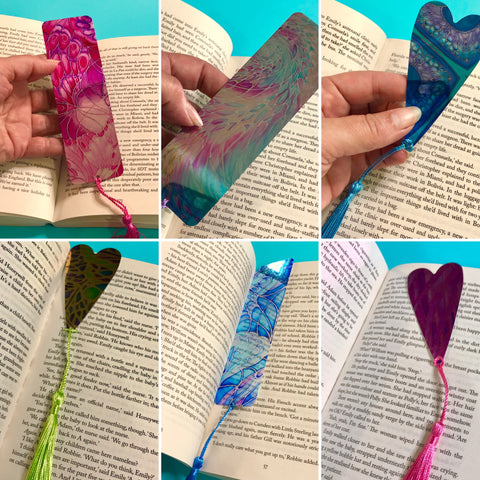 bookmarks beautiful and colourful designs on attractive shiny surface