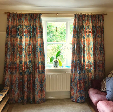 Custom full length butterfly curtains chenille fabric by Meikie