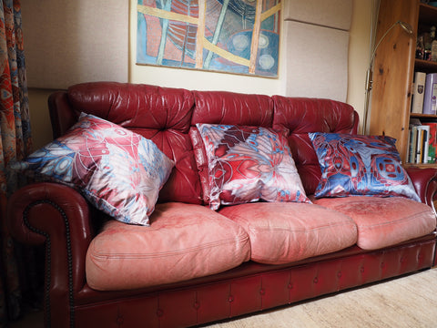Custom designed butterfly cushions by Meikie