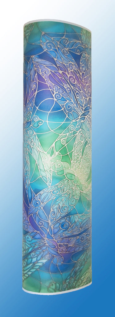 Dragonfly Contemporary Floor Lamp - Blue Dragonfly Art Lamp - Tranquil Calming Lamp Light