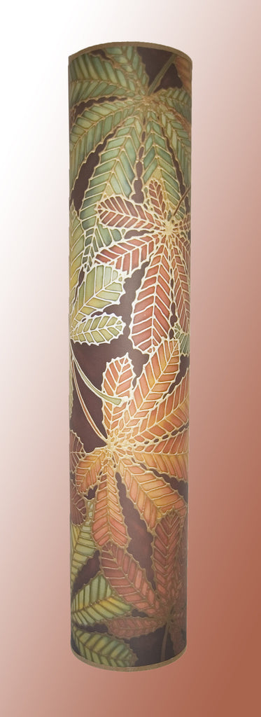 Horsechestnut Contemporary Floor Lamp  - Welcoming Light Art Lamp - Green Rust Chocolate