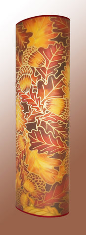 Contemporary Art Lamp - Oak Leaves Atmospheric Lamp - Richly Coloured Floor Lamp - Meikie Designs