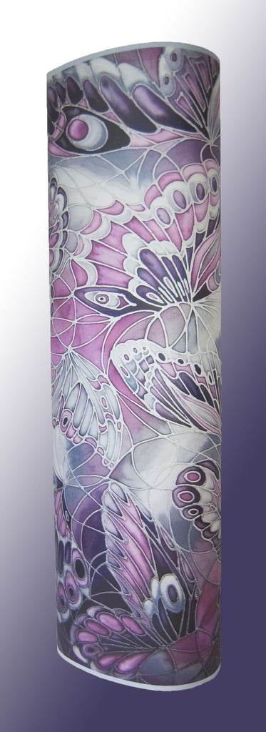 Oval or Tube shape 50-10cm tall lamp with New Buterfly Wings Design in pink purple black white colours
