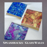 Made to order Splash backs by Meikie Designs - bespoke Splash Backs - Glass Walls