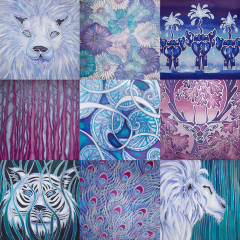 Hand Painted Silks by Meikie - available framed and unframed