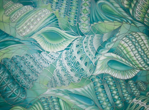 Spiral Shells Signed Limited Edition Print - Spiral Sea Shells- Sea Green Shells Print - Bathroom Art