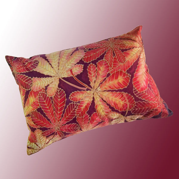 Autumn Leaves Accent Cushion - Red Leaves Decorative Pillow - Meikie Designs