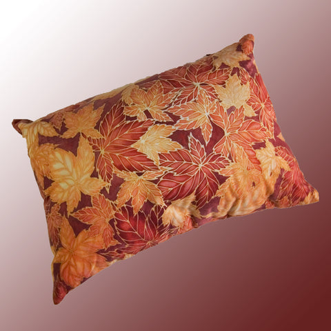 Virginia Creeper Leaves Cushion - caramel & terracotta colours - Terracotta Leaves Pillow