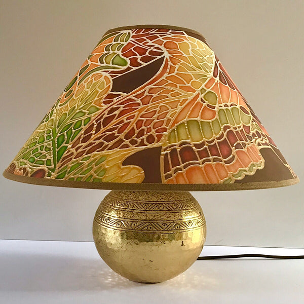 Butterfly Lamp Shade - green rust chocolate Pendant Shade - Atmospheric lamp Shade